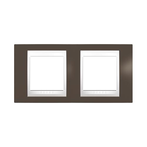 Schneider UNICAplus rám.krycí CACAO/POLAR ;  MGU6004871 (MGU6.004.871)