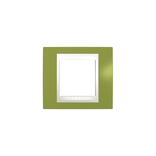Schneider UNICAplus rám.krycí PISTACIO/MARFIL ;  MGU6002566 (MGU6.002.566)