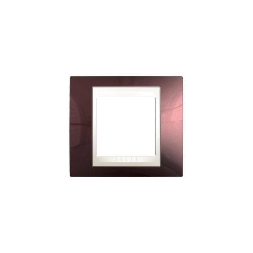 Schneider UNICAplus rám.krycí TERACOTA/MARFIL ;  MGU6002551 (MGU6.002.551)