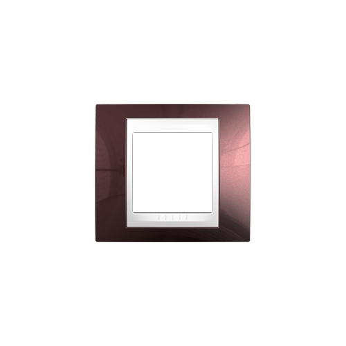 Schneider UNICAplus rám.krycí TERACOTA/POLAR ;  MGU6002851 (MGU6.002.851)