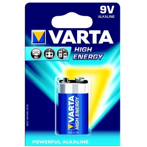 VARTA 9V/6LR61 HighEnergy baterie ; 6LR61/ 4922
